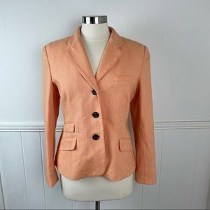 Vineyard Vines Orange Cotton Blazer Jacket